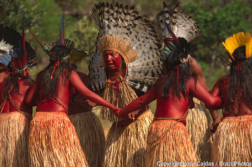 Yawanawa indigenous people dancing. Cultural traditions. Brazil.