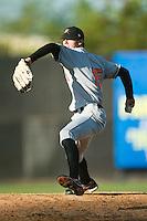 Frederick starting pitcher Brandon Erbe (15) in action versus Winston-Salem at Ernie Shore Field in Winston-Salem, NC, Sunday, May 6, 2007