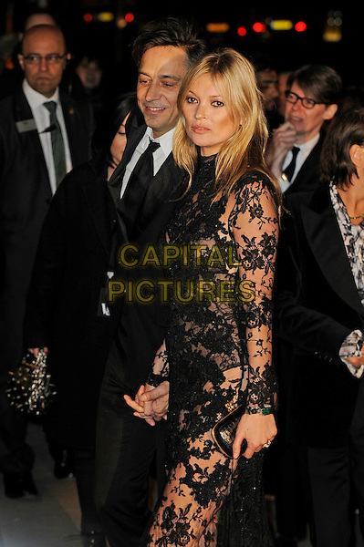 LONDON, ENGLAND - MARCH 12: Jamie Hince and Kate Moss attend a private view for the 'Alexander McQueen: Savage Beauty' exhibition at Victoria &amp; Albert Museum on March 12, 2015 in London, England<br /> CAP/MAR<br /> &copy; Martin Harris/Capital Pictures