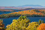 Mt Katahdin over Moosehead Lake in Piscataquis County, ME, USA