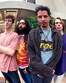 Soundgarden (L-R: Ben Shepherd, Kim Thayil, Chris Cornell, Matt Cameron) portraits photographed at the Big Day Out in Sydney Australia - January 1997.  Photo by: Tony Mott / IconiccPix