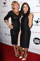 "HOLLYWOOD, CA - JANUARY 14: Zoe Bell, Rosario Dawson at the Los Angeles Screening of Roadside Attractions & Day 28 Films' ""Gimme Shelter"" held at the Egyptian Theatre on January 14, 2014 in Hollywood, California. (Photo by Xavier Collin/Celebrity Monitor)"
