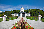 The Vermont State House in Montpelier, VT, USA