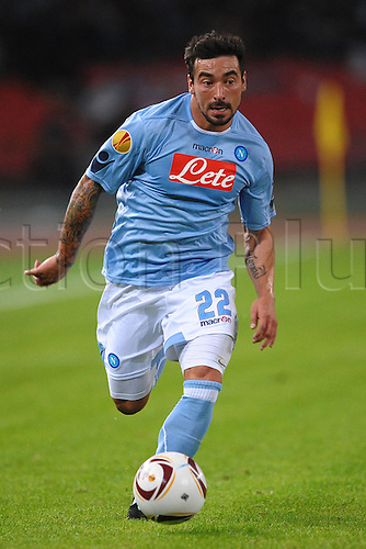 21.10.2010 Liverpool manager Roy Hodgson's gamble in leaving at home a handful of his senior players paid off in some respect as his side claimed a well-earned Europa League draw against Napoli in the Stadio San Paolo. Picture shows Ezequiel Lavezzi Napoli.