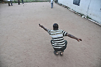 Indian men playing boul at a ground in Pondicherry. Boul is a game which originated in south of France. Arindam Mukherjee