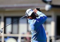J.B. Holmes (USA) tees off the 1st tee at Pebble Beach Golf Links during Saturday's Round 3 of the 2017 AT&amp;T Pebble Beach Pro-Am held over 3 courses, Pebble Beach, Spyglass Hill and Monterey Penninsula Country Club, Monterey, California, USA. 11th February 2017.<br /> Picture: Eoin Clarke | Golffile<br /> <br /> <br /> All photos usage must carry mandatory copyright credit (&copy; Golffile | Eoin Clarke)