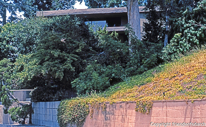 Rudolph Schindler: Olive House, Silver Lake 1933. (Unfortunately, obscured view from street--taken 2004)