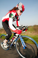 22 MAR 2012 - LOUGHBOROUGH, GBR - British triathlete Lucy Hall .(PHOTO (C) 2012 NIGEL FARROW)