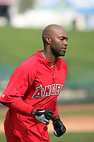Torii Hunter. Los Angeles Angels spring training workouts at Diablo Stadium complex, Tempe, AZ - 03/02/2010.Photo by:  Bill Mitchell/Four Seam Images.