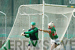 PJ O'Goman (Goalie Ballyduff) in action with Shane Nolan (Crotta) in the  Garvey's SuperValu Senior Hurling Championship 2014 Quarter Finals at Austin Stack Park, Tralee on Saturday.