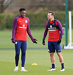 England's Danny Welbeck and Danny Drinkwater during training at the Tottenham Hotspur Training Centre.  Photo credit should read: David Klein/Sportimage