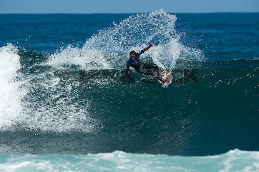 Unknown surfer (ESP) at Lefties in Gracetown near Margaret River in Western Australia.