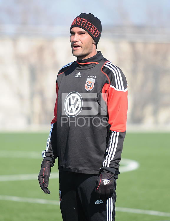 D.C. United defender Emiliano Dudar (19)During the first training session after returning from Arizona, at Long Bridge Park in Arlington Virginia, Monday February 20, 2012.