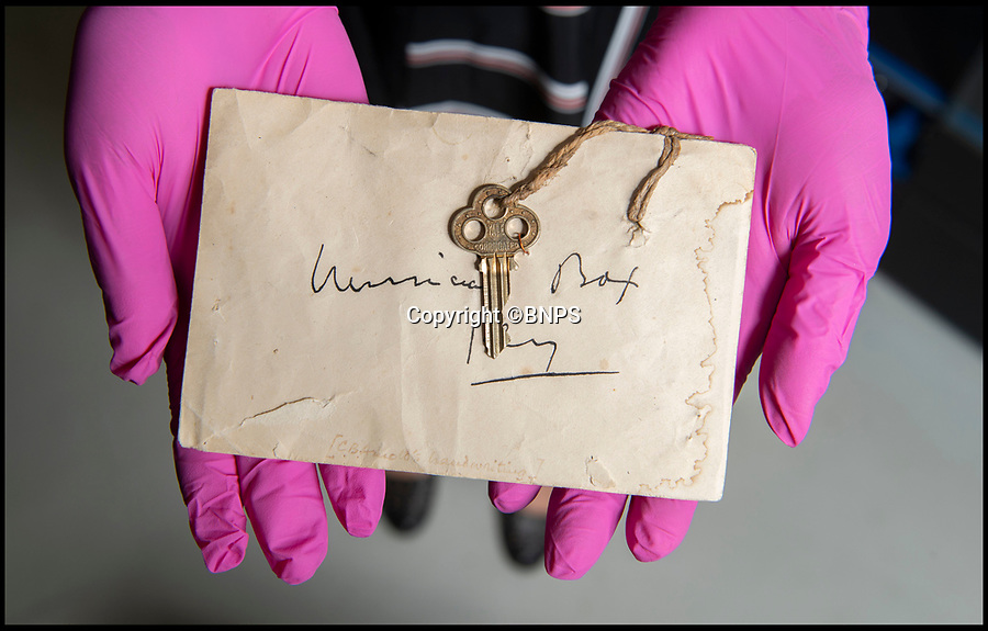 BNPS.co.uk (01202 558833)<br /> Pic: PhilYeomans/BNPS<br /> <br /> Lt Clement Arnold's key to his Whippet tank.<br /> <br /> Moving and miraculous survivor from 100 years ago - fragile timepiece reveals a remarkable story of courage, death and unlikely friendship from the Western Front.<br /> <br /> An unlikely friendship between a British World War One tank commander and the German foe who saved his life has come to light 100 years after they first met on the battlefield.<br /> <br /> Lieutenant Clement Arnold, of the Tank Corps, had been in charge of a Whippet tank which ploughed through the German defences and wreaked havoc on their trenches at the Battle of Amiens on the 8/8/1918, before recieving a direct hit and catching fire, forcing the three man crew to bail out.<br /> <br /> The enraged German soldiers bayoneted to death the tank driver, Private W J Carnie, but before Lt Arnold suffered the same fate, German officer Ritter Ernst von Maravic stepped in and ordered that he and the tank's gunner were taken prisoner instead.<br /> <br /> As a gesture of gratitude, Lt Arnold gave von Maravic the prized  wristwatch given to him by his father, his most valuable possession.<br /> <br /> Amazingly the two foes then made contact and became friends in the 1930's when von Maravic returned the watch to Clement Arnold and even holidayed in Llandudno with the Arnold family. <br /> <br /> Yesterday Lt Arnold's nephew Jolyon(83) visited the Tank Museum museum in Dorset to retell the astonishing story.