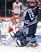 (Ewing, Bishop) Glenn Belmore (Maine - 15) - The Boston University Terriers defeated the University of Maine Black Bears 1-0 (OT) on Saturday, February 16, 2008 at Agganis Arena in Boston, Massachusetts.