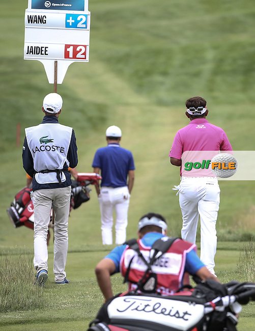Thongchai Jaidee (THA) heads down the last during the Final Round of the 100th Open de France, played at Le Golf National, Guyancourt, Paris, France. 03/07/2016. Picture: David Lloyd | Golffile.<br /> <br /> All photos usage must carry mandatory copyright credit (&copy; Golffile | David Lloyd)