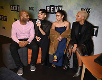 "RENT: JAN 15, 2019: (L-R) Brandon Victor Dixon, Valentina, Vanessa Hudgens, and Kiersey Clemons attend FOX'S ""RENT"" Sing-Along YouTube Event at the YouTube Space on January 15, 2019, in Los Angeles, California. (Photo by Frank Micelotta/Fox/PictureGroup)"