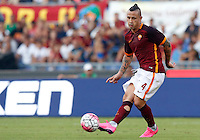 Calcio, Serie A: Roma vs Juventus. Roma, stadio Olimpico, 30 agosto 2015.<br /> Roma&rsquo;s Radja Nainggolan in action during the Italian Serie A football match between Roma and Juventus at Rome's Olympic stadium, 30 August 2015.<br /> UPDATE IMAGES PRESS/Riccardo De Luca