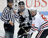 Kyle MacKinnon (Providence - 15), Tyler McNeely (NU - 94) - The Northeastern University Huskies defeated the Providence College Friars 3-1 (EN) on Tuesday, January 19, 2010, at Matthews Arena in Boston, Massachusetts.