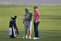 Tyrrell Hatton (ENG) on the 18th fairway during the 1st round of the DP World Tour Championship, Jumeirah Golf Estates, Dubai, United Arab Emirates. 21/11/2019<br /> Picture: Golffile | Fran Caffrey<br /> <br /> <br /> All photo usage must carry mandatory copyright credit (© Golffile | Fran Caffrey)