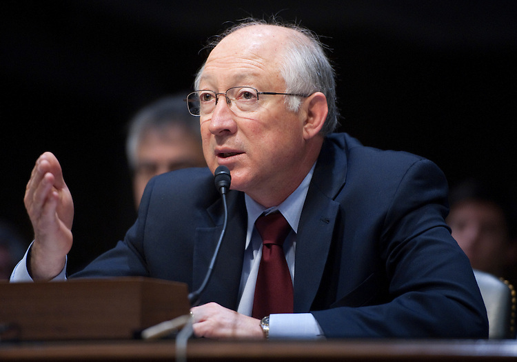 "UNITED STATES – FEBRUARY 29: Interior Secretary Ken Salazar testifies during the Interior, Environment, and Related Agencies Subcommittee hearing on ""The FY2013 Budget Request for the Department of Interior"" on Wednesday, Feb. 29, 2012. (Photo By Bill Clark/CQ Roll Call)"