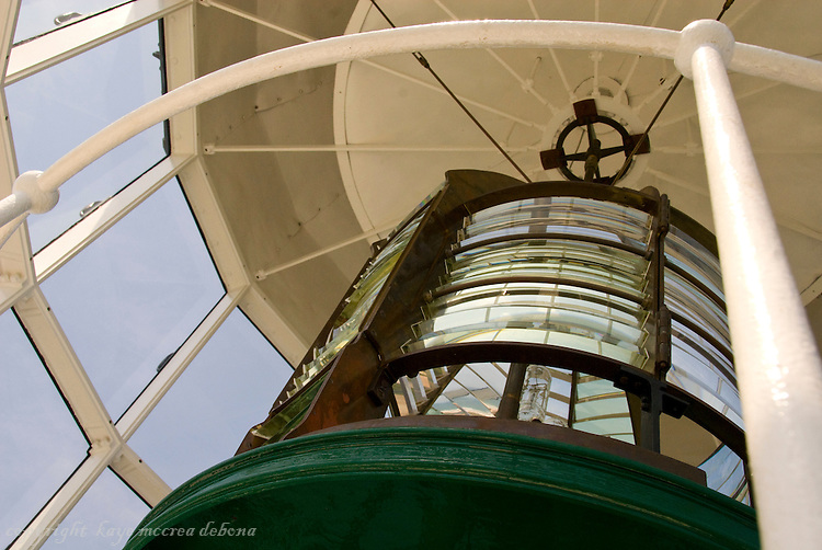 Ponce de Leon Inlet Lighthouse,one of the Florida Lighthouses that operates with a Fresnel lens
