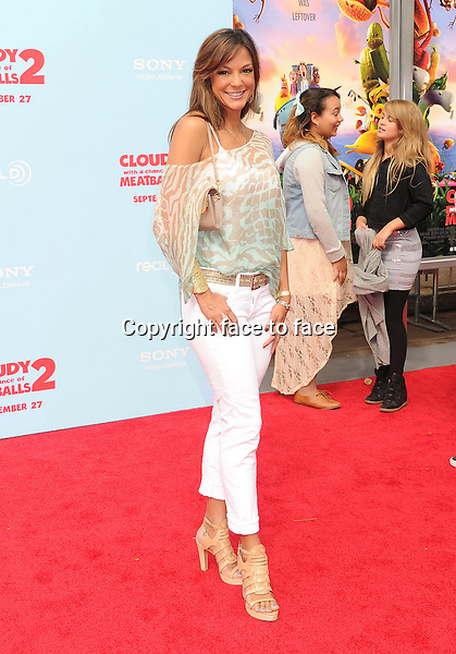 WESTWOOD, CA- SEPTEMBER 21: Actress Eva La Rue arrives at the Los Angeles premiere of 'Cloudy With A Chance Of Meatballs 2' at the Regency Village Theatre on September 21, 2013 in Westwood, California.(Eva La Rue)<br />