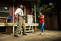 London, UK. 21.06.2013. FENCES, by August Wilson, opens at the Duchess Theatre, in London's West End, following a successful run at Theatre Royal Bath. Lenny Henry takes on the lead role of Troy Maxson in, this production, which is directed by Paulette Randall. Picture shows: Lenny Henry (Troy Maxson) and Ashley Zhangazha (Cory). Photograph © Jane Hobson.