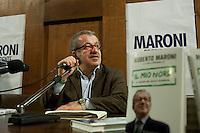 """Lodi: Roberto Maroni candidato per il centrodestra come presidente della regione Lombardia, presenta il suo libro """"Il mio Nord"""""""