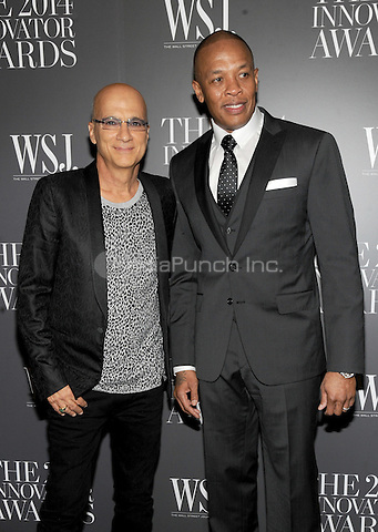New York, NY-  November 5: Jimmy Iovine and Dr. Dre attends the WSJ ' Innovator Of The Year' Awards at the Museum Of Modern Art on November 5, 2014 in New York City. Credit: John Palmer/MediaPunch