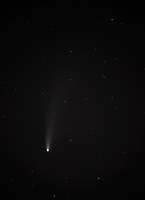 Comet NEOWISE, photographed with a long lens from Seattle.