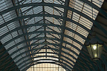 Glass roof and lantern in Covent Garden Market, London UK