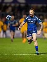 8th November 2019; AJ Bell Stadium, Salford, Lancashire, England; English Premiership Rugby, Sale Sharks versus Coventry Wasps; Byron McGuigan of Sale Sharks has his eye on the ball - Editorial Use