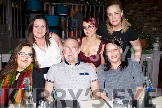 Enjoying the Womens Little Christmas celebrations in No 4 The Square Restaurant on Saturday night last, seated l-r, Sinead O&rsquo;Shea, Anthony Flatten and Sandra Hayes.<br /> Back l-r, Regina Murphy, Chloe Murphy and Bernie Scanlon.