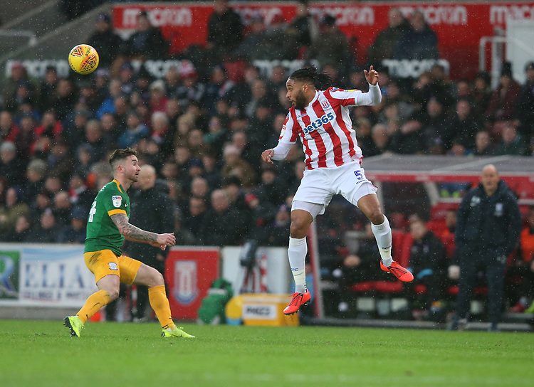 Stoke City's Bruno Martins Indi<br /> <br /> Photographer Stephen White/CameraSport<br /> <br /> The EFL Sky Bet Championship - Stoke City v Preston North End - Saturday 26th January 2019 - bet365 Stadium - Stoke-on-Trent<br /> <br /> World Copyright © 2019 CameraSport. All rights reserved. 43 Linden Ave. Countesthorpe. Leicester. England. LE8 5PG - Tel: +44 (0) 116 277 4147 - admin@camerasport.com - www.camerasport.com
