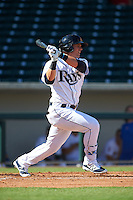 Mesa Solar Sox outfielder Jake Bauers (21) at bat during an Arizona Fall League game against the Scottsdale Scorpions on October 19, 2015 at Sloan Park in Mesa, Arizona.  Scottsdale defeated Mesa 10-6.  (Mike Janes/Four Seam Images)