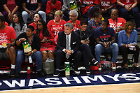 Washington, DC - Sept 17, 2019: Washington Mystics owner Ted Leonsis on the sideline during WNBA Playoff semi final game between Las Vegas Aces and Washington Mystics at the Entertainment & Sports Arena in Washington, DC. The Mystics hold on to beat the Aces 97-95. (Photo by Phil Peters/Media Images International)