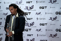 Humble, winner of the 2009 Juno for Reggae recording of the Year, poses on the media wall, Saturday March 28th, 2009, at the Westin Bayshore Hotel in Vancouver.  (Scott Alexander/pressphotointl.com)