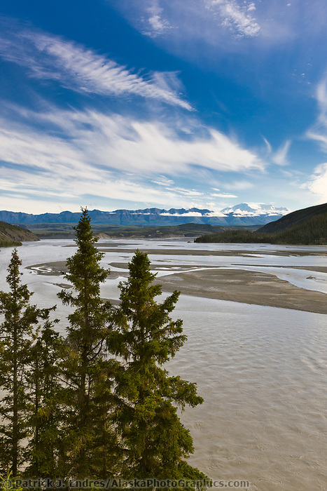 Wrangell mountains, Wrangell St. Elias National Park, and the Copper River, southcentral, Alaska.