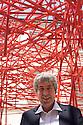 Federico Giudiceandrea, industrialist and collector, poses at Palazzo Reale in Milan June 23, 2016. Giudiceandrea is one of the curator of Escher exhibition at Palazzo Reale; he is also the main Escher collector in Europe. &copy; Carlo Cerchioli<br /> <br /> Federico Giudiceandrea, industriale e collezionista, posa a Palazzo Reale, Milano 23 giugno 2016. Giudiceandrea &egrave; uno dei curatori della mostra su Escher ed &egrave; il pi&ugrave; grande collezionista privato europeo di Escher.
