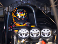 Feb 2, 2017; Chandler, AZ, USA; NHRA funny car driver J.R. Todd during Nitro Spring Training preseason testing at Wild Horse Pass Motorsports Park. Mandatory Credit: Mark J. Rebilas-USA TODAY Sports
