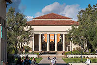 Thorne Hall, designed by Myron Hunt, on the campus of Occidental College, Nov. 21, 2016.<br />