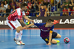 League LNFS 2018/2019.<br /> PlayOff Final. 1er. partido.<br /> FC Barcelona Lassa vs El Pozo Murcia: 7-2.<br /> Alex Yepes vs Sergio Lozano.