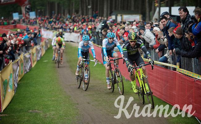 Sven Nys (BEL/Crelan-AAdrinks) moving into 3rd<br /> <br /> 2016 Belgian National CX Championships