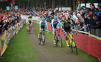Sven Nys (BEL/Crelan-AAdrinks) moving into 3rd<br /> <br /> 2016 Belgian National CX Championships