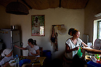 "Sister Cendrine ( on right ) a french Rastafarian, cooks diner helped by her two daughters at the ""Zion train Lodge"", owned by her and her husband, a French Guadalupean Rasta,   in Shashamane, a village that hosts more than 300 Rastafarians Families, in Ethiopia on Saturday March 22 2008.///..The Rastafarians, who are mainly from Jamaica, started migrating to Ethiopia 45 years ago, when Haile Selassie, whom they consider to be God incarnate, gave them 500 hectares of land on which to settle..Since the first 12 Jamaican settlers in 1963, the community has grown to over 200 families..The Rastafarian community insists that a mass exodus of Jamaicans to Ethiopia would not be a burden, despite the poverty and economic difficulties faced in the country..Some of them are skilled tradesmen such as carpenters and builders..Others are shop owners and they say that over the decades they have played an important role in the development of Shashamene..In January 2005 there were reports in the media that Bob marley's remains were to be exhumed and then reburied at Shashamane. His wife Rita Marley described Ethiopia as his spiritual home, provoking controversy in Jamaica, where his remains lie..At the beginning of the following month, thousands of fans gathered in Shashamane for a month of celebrations for what would have been Marley's 60th birthday. Until 2005 his birthday celebrations were always held in Jamaica. These events brought Shashamane to wider prominence throughout the world.."