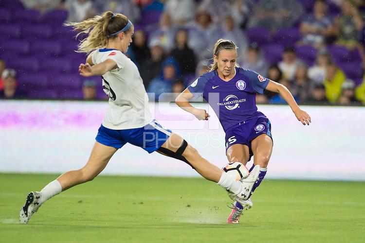 Orlando, FL - Saturday June 03, 2017:  Rachel Hill during a regular season National Women's Soccer League (NWSL) match between the Orlando Pride and the Boston Breakers at Orlando City Stadium.