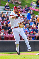 Wisconsin Timber Rattlers third baseman Weston Wilson (23) during game one of a Midwest League doubleheader against the Kane County Cougars on June 23, 2017 at Fox Cities Stadium in Appleton, Wisconsin.  Kane County defeated Wisconsin 4-3. (Brad Krause/Krause Sports Photography)