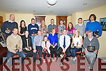 .SENIORS: On Friday night in The Castlebar, Rock Street, Tralee, The..Kerry area Basketball Board held their Senior Players Awards night...Front l-r: Darren Gaffney, Eileen O'Connor, Pa Carey..(chairperson),Lara Hoare, Michelle Hoare, Dave Ahern (assistent Vice..chairman), Rosie Young and Marie O'Sullivan. Back l-r: Dan Doonan,..Claire Clifford (sec), Niall Murphy, mary G Stack, Frances Benotas,..Keith O'Grady,Marie Kennelly, Eugene Bowler and Andrew Fitzgerald....... Reply Forward