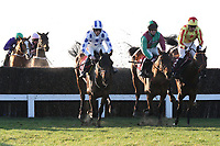 The field in jumping action during the ladbrokes.com Kent National (Handicap Chase)